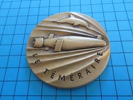 Médaille Commémorative Française DCN Sous Marin SNLE LE TEMERAIRE (vue à 25 € Chez I-B ...) - Barcos