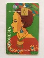 Indonesie Telefoonkaart - Telkom Indonesia (Cultural Dress Woman) 100 Unit (Used) - Indonesia