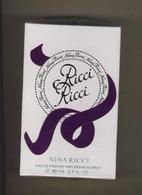 Parfum Femmme  RICCI RICCI   80 Ml  ( Eau De Parfum ) Neuf Sous Cello - Parfum (neuf Sous Emballage)