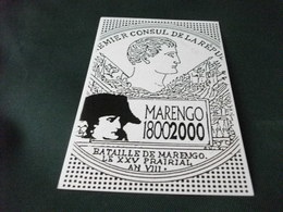 MARENGO 1800 2000 BICENTENARIO BATTAGLIA DI MARENGO ALESSANDRIA  ANNULLO ROSSO STAMPE - Alessandria
