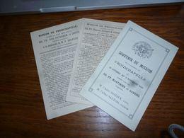 BC4-2-104 Lot De Souvenirs De Mission Froidchapelle 1919 1894 1906 1880 - Unclassified