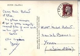 CP Affr Y&T 1263 Obl ERSTEIN Du 16.7.1925 Adressée à Yerres - Elsass-Lothringen