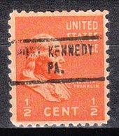USA Precancel Vorausentwertung Preo, Locals Pennsylvania, Port Kennedy 734 - Vereinigte Staaten