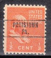 USA Precancel Vorausentwertung Preo, Locals Pennsylvania, Pottstown 748 - Vereinigte Staaten