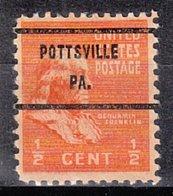 USA Precancel Vorausentwertung Preo, Bureau Pennsylvania, Pottsville 803-71 - Vereinigte Staaten
