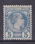 MONACO N°3  PRINCE CHARLES III 5 CENTIMES BLEU * - Monaco