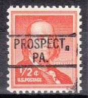 USA Precancel Vorausentwertung Preo, Locals Pennsylvania, Prospect 802 - Vereinigte Staaten