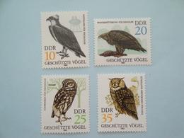 1982 Allemagne DDR  Oiseaux Birds Yv 2352/5 ** Scott 2265/8  Michel 2702/5  SG E 2410/3 - Oiseaux