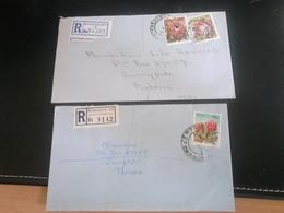 2 Lettres Recommandées KIMBERLEY Et JOHANNESBURG , Thème FLEURS - Afrique Du Sud (1961-...)