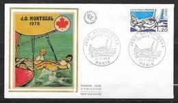 FDC  Lettre Illustrée Premier Jour Paris Le 17/07/1976 N°1889 J.O. De Montréal Voile    TB  Soldé à Moins De 20 % ! ! ! - Summer 1976: Montreal