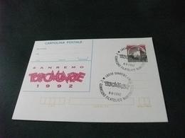 CARTOLINA POSTALE CASTELLO LIRE 650 SANREMO TUTTOMONETE 1992 I CONVEGNO - Borse E Saloni Del Collezionismo