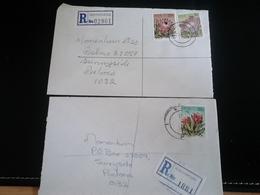 2 Lettres Recommandées ROTHDENE Et KOCKSPARK , Thème FLEURS - Afrique Du Sud (1961-...)