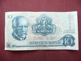 NORVEGE Billet De 10 Krone 1982 - Norvège