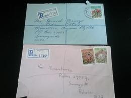 2 Lettres Recommandées KIMBERLY Et PETIT , Thème FLEURS - Afrique Du Sud (1961-...)