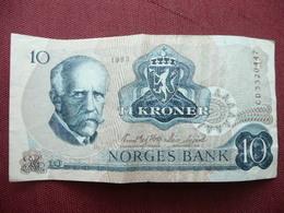 NORVEGE Billet De 10 Krone 1983 - Norvège
