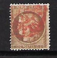 """FR YT 54 """" Ceres 10c. Brun/rose """" 1875 CAD Rouge Des Imprimés - 1871-1875 Cérès"""