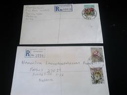 2 Lettres Recommandées SUNDRA Et SWARTKLIP , Thème FLEURS - Afrique Du Sud (1961-...)