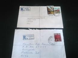 2 Lettres Recommandées PHUTHA DITJABA Et JOHANNESBURG , Thème FLEURS - Afrique Du Sud (1961-...)