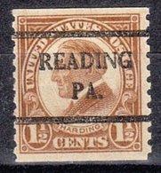 USA Precancel Vorausentwertung Preo, Bureau Pennsylvania, Reading 598-42 - Vereinigte Staaten