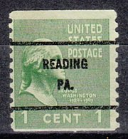 USA Precancel Vorausentwertung Preo, Bureau Pennsylvania, Reading 839-61 - Vereinigte Staaten