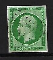 "FR YT 12 "" Napoléon III 5c. Vert "" 1854 Losange - 1853-1860 Napoleon III"
