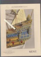 Menu Petit Dejeuner - Cie  Générale Transatlantique - Paquebot Normandie - La Couronne Construit à La Roche Bernard - Menus