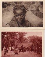 84Vn    Cote D'Ivoire Lot De 2 Cpa Femme Baoulé Et Danse Du Fétiche - Côte-d'Ivoire
