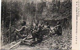84Vn    Cameroun Cpa Essai Prototype (dos Vert Uni) Chemin De Portage Porteurs - Cameroon