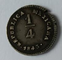 1/4 REAL 1843 - MO-LR - REPUBLICA MEXICANA - Argent - - Mexico
