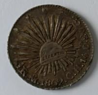 1/2 REAL 1862 - MO-CH - REPUBLICA MEXICANA - Argent - - Mexico