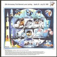 Palau 1994 Yvertn° 647-666 *** MNH Cote 20 Euro 25e Anniversaire Premier Homme Sur La Lune - Palau