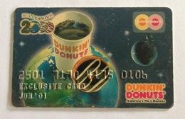 Indonesia Creditcard (DUNKIN DONUTS) Millenium 2000 (Used) - Geldkarten (Ablauf Min. 10 Jahre)