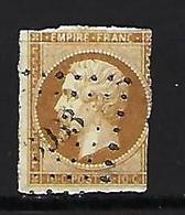 "FR YT 13B "" Napoléon III 10c. Brun-clair "" 1860 PC 3933 DONJEUX - 1853-1860 Napoleon III"