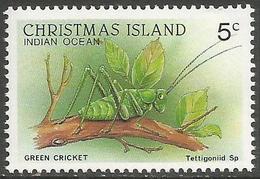 Christmas Island - 1988 Green Cricket 5c MNH **    Sc 199 - Christmas Island