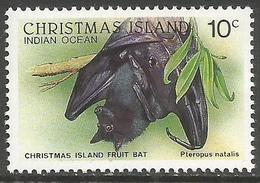 Christmas Island - 1987 Fruit Bat 10c MNH **    Sc 200 - Christmas Island