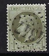 "FR YT 25 "" Napoléon III Lauré 1c. Bronze "" 1870 GC 4347 WOINCOURT - 1863-1870 Napoleon III With Laurels"
