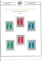 Lot 200 Timbres & Vignettes EUROPA Années 50/60 - Europa-CEPT