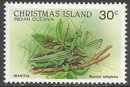 Christmas Island - 1988 Mantis 30c MNH **    Sc 202 - Christmas Island