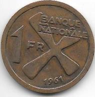 *katanga 1 Franc 1961  Km 1  Vf+ - Katanga