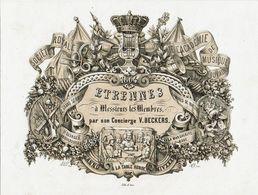 Herdenkingskaart Etrennes à Messieur Les Membres Par Son Concièrge V. BECKERS - Leuven