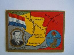 Sital Sociedade Industrial Dos Tabacos De Angola, Lda - Fábrica Triunfo - Luanda - Angola Cigarette Card N° 32 Paraguay - Cigarettes