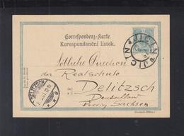 Österreich GSK 1901 Jicin Nach Delitzsch - Ganzsachen