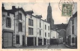 """¤¤  -  SAINT-LAURENT-sur-SEVRE   -  Rue De L'Eglise  -  Hôtel De La Poste """" Y - Cailleau """"   -  ¤¤ - France"""