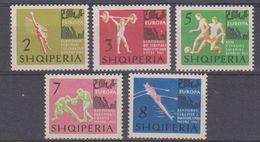 Albania 1963 European Championships 5v  ** Mnh (38760) - Albanië