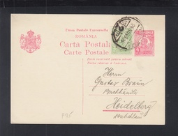 Romania Stationery 1926 Timisoara To Heidelberg - Postal Stationery