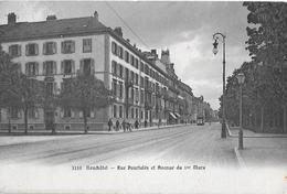 NEUCHATEL → Rue Pourtalès Et Avenue Du 1er Mars Avec Le Tram, Ca.1910   ►RRR◄ - NE Neuenburg