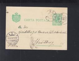Romania Stationery 1901 Iasi To Heidelberg - Interi Postali