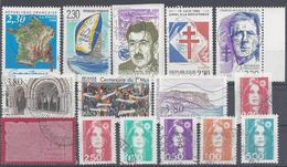 Frankreich Yv 2631 2662 Mix Set Stamps Of 1990 France Francia Frankrijk Small Selection Of Fine Used 2226 - Frankreich