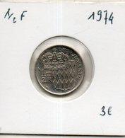 Monaco. 1/2 Franc 1974 - Monaco