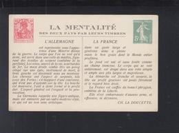 Carte Postale La Mentalite L'Allemagne France - Ganzsachen
